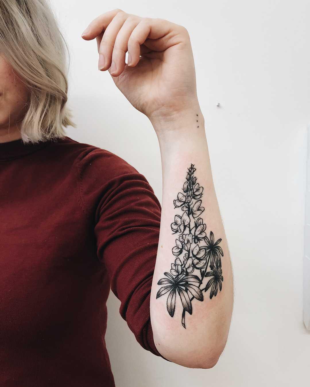Texas bluebonnet tattoo