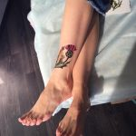 Thistle tattoo by Sasha Unisex