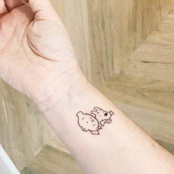 Tintin and Snowy tattoo