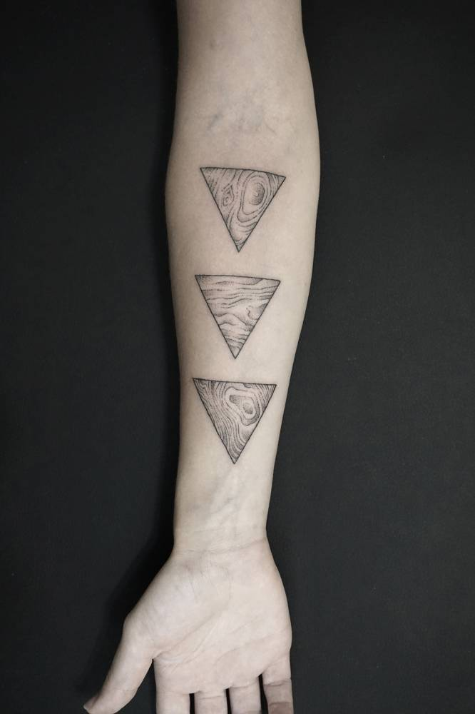 Topography pattern tattoos by Evan Lorenzen