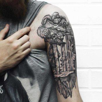Travel memories tattoo by Sasha Tattooing