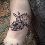 Triceratops skull tattoo