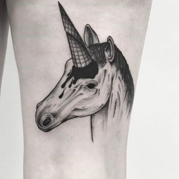 Unicorn ice cream tattoo