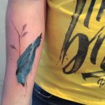Watercolor bluebird tattoo