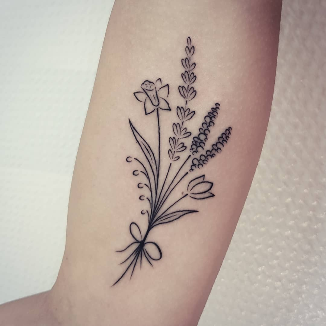 Wildflower bouquet done at Mu Body Arts