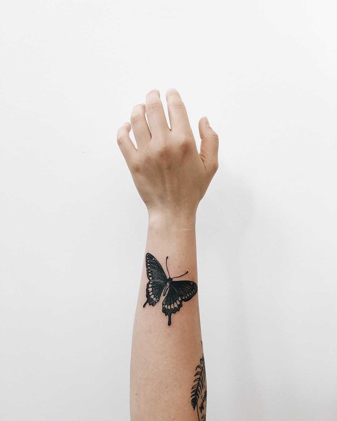 Wonderful butterfly tattoo