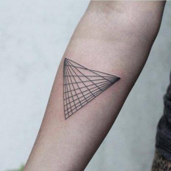 3D pattern tattoo by Rach Ainsworth
