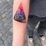 Abstract triangle tattoo by Ondrash Ondřej Konupčík