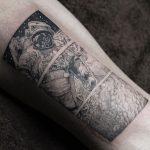 Astronaut tattoo by Sol Art