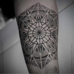 Beautiful mandala by tattooist Blackbird Tattoos