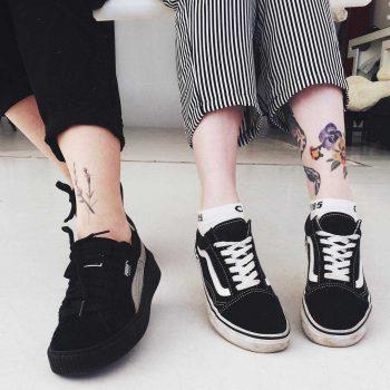 Best friend shin tattoos