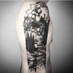 Black sleeve tattoo by Maldenti