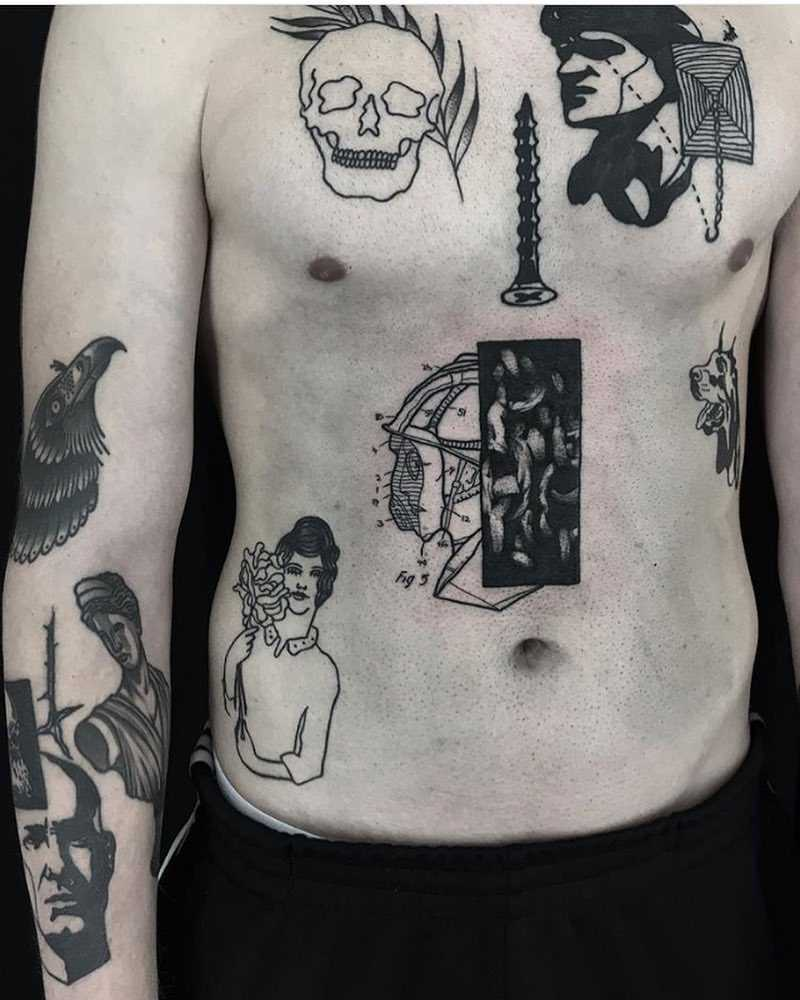 Black tattoos by Dirt Merchant