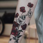 Bloody poppies tattoo