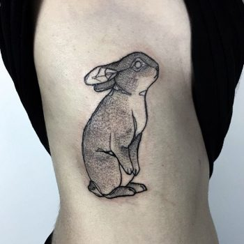 Bunny by Vera done at Golden Iron Tattoo
