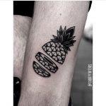 Chopped pineapple tattoo by Ana
