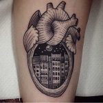 City in a heart tattoo by Susanne König Suflanda
