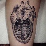 City in a heart tattoo by Susanne König Suflanda