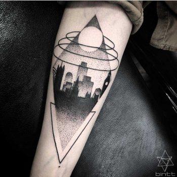 City landscape tattoo by Bintt