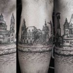 City landscape tattoo by Gabor Zolyomi