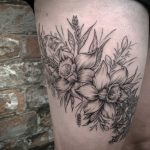 Cornish wildflower tattoo