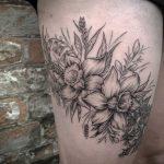 Cornish wildflower tattoo