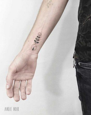 Custom symbol tattoo by Angie Noir