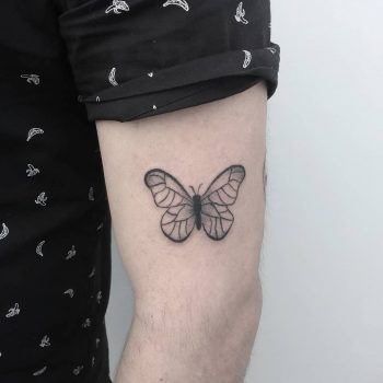 Cute geometric butterfly tattoo
