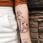 Cute greyhound tattoo