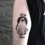 Dead tired ghost tattoo