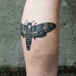 Death's-head hawkmoth tattoo