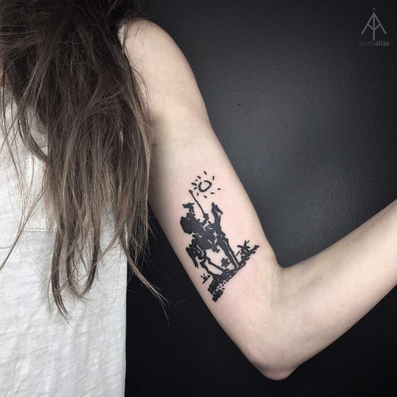 Don Quixote tattoo by Ilayda Atlas