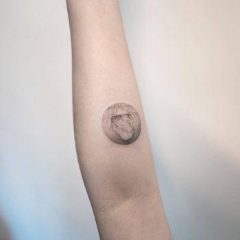 Dot-work iceberg tattoo by Ilwol Hongdam