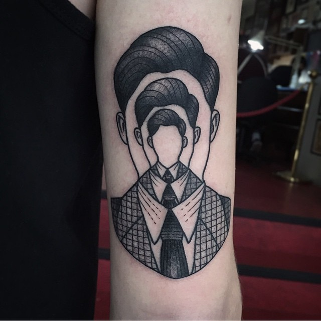 Endless man tattoo by Susanne König Suflanda