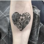 Floral heart by Jack Sones Tattoo