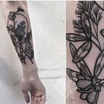 Floral tattoo by Herz Dame