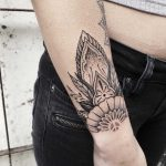 Floral wrist piece by Roald Vd Broek