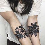 Flower tattoos by Antoine Larrey
