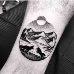 Foxes and landscape tattoo by Wagner Basei