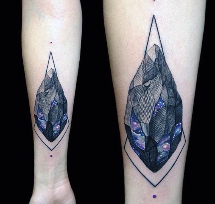 Galactic gem tattoo by Vlad Tokmenin