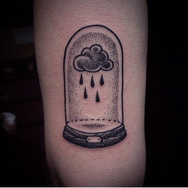 Glass dome and a rain cloud by Susanne König Suflanda