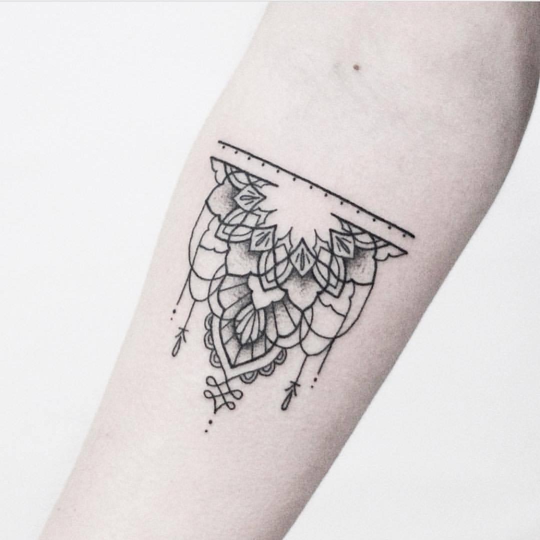 Half mandala tattoo by Rach Ainsworth