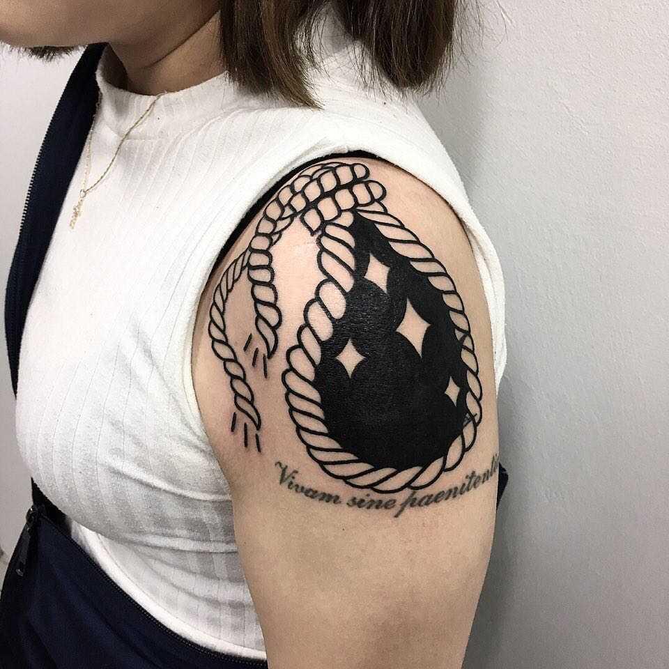 Hangman's knot tattoo by Ssik Boy