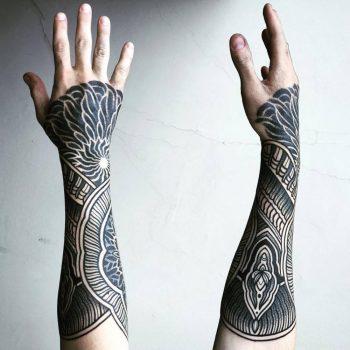 Henna inspired forearm tattoo