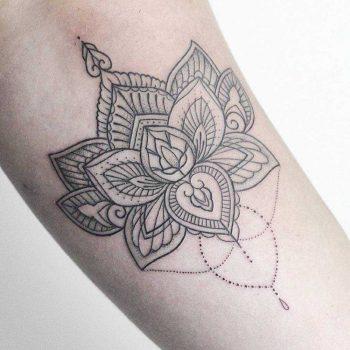 Henna style Lotus flower