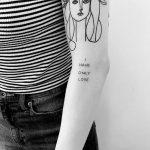 I have only love tattoo by Devol Tattooer