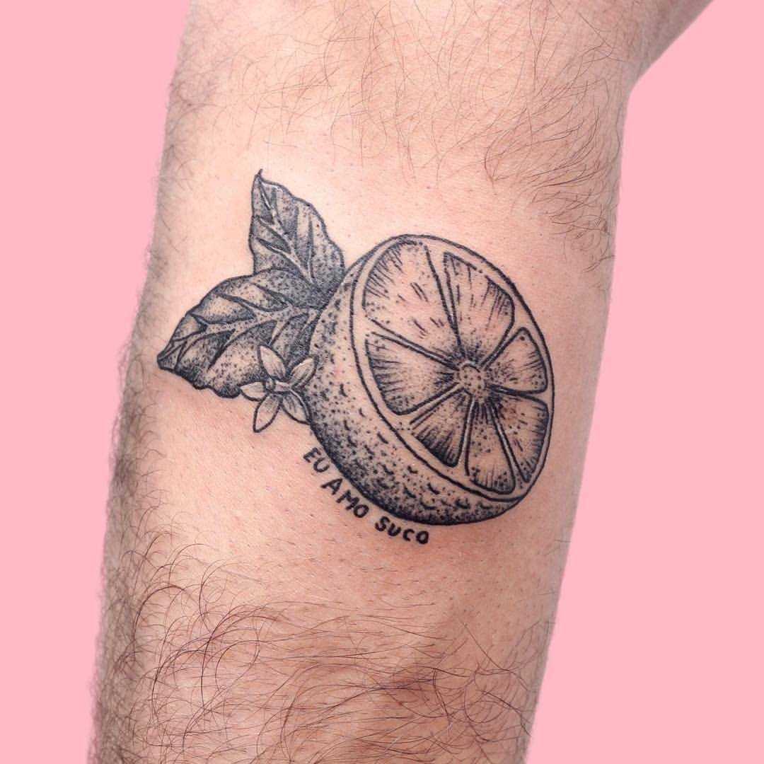 I love juice tattoo by Jen Wong