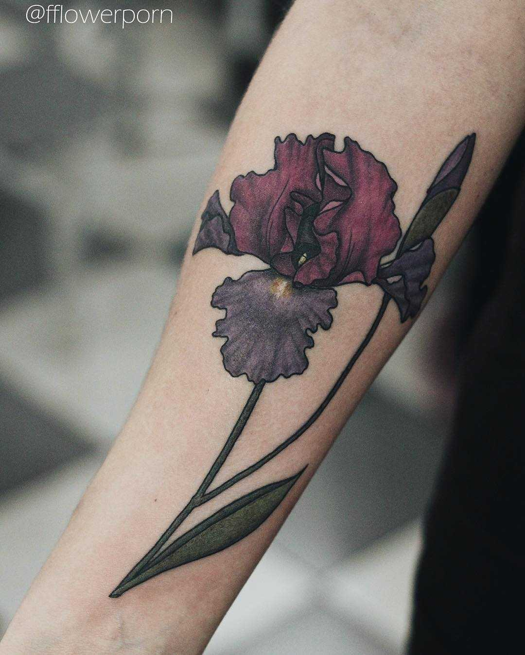 Iris tattoo by Olga Nekrasova
