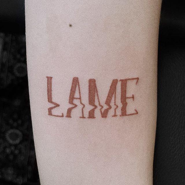 LAME tattoo