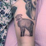 Lamb tattoo by Jen Wong